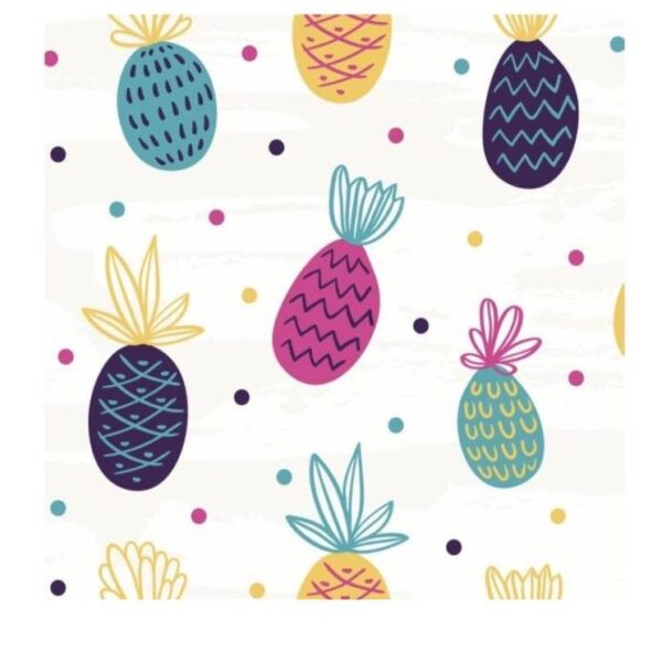 Baby Got Shade Window Film Colourful pineapples on white background