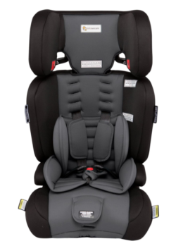 Infasecure Visage Grey child car seat with headrest various harness slots and infant padding