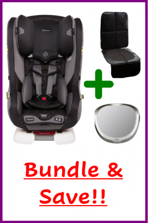 premium car seat bundle with achieve mirror and seat protector